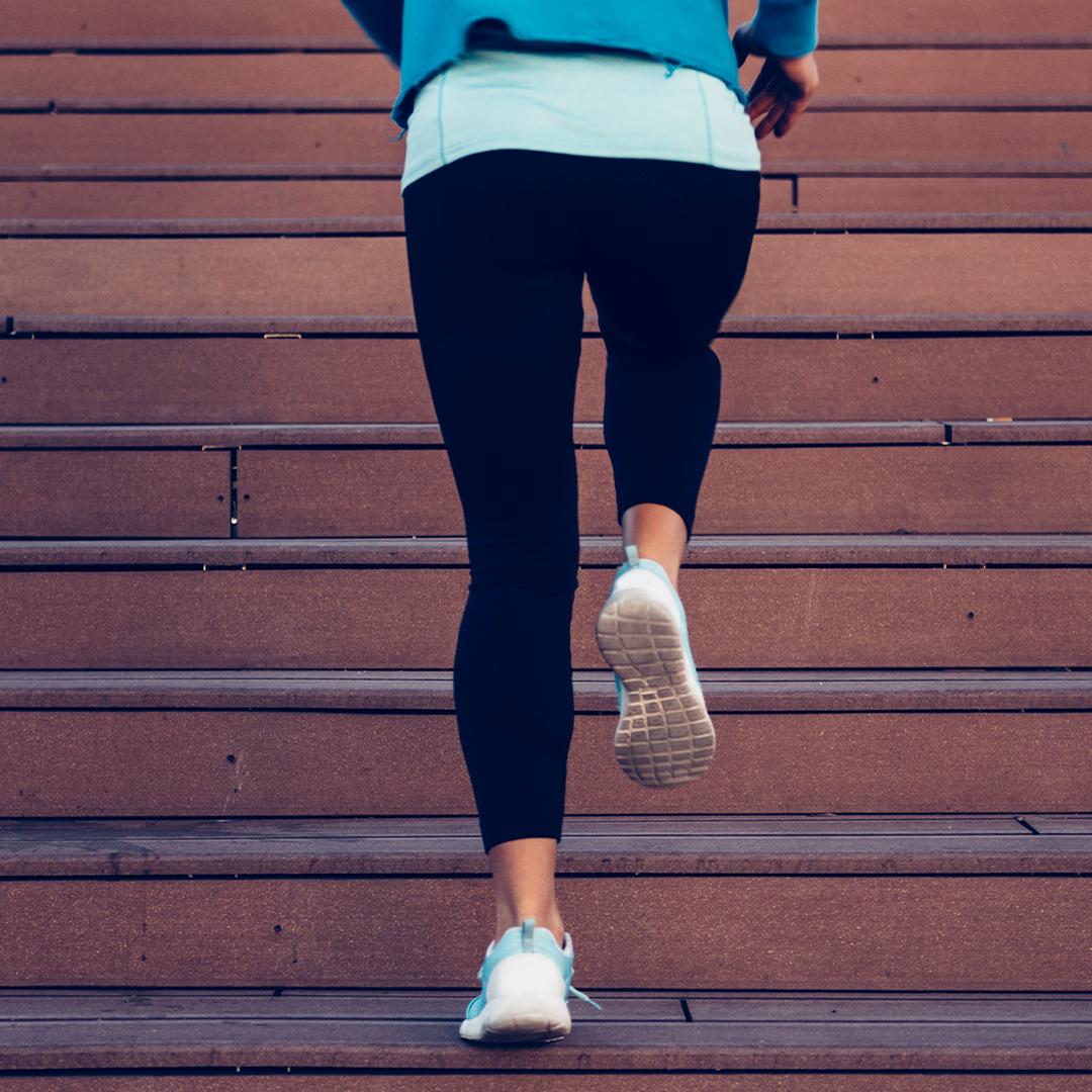 Running up stairs (wellness)