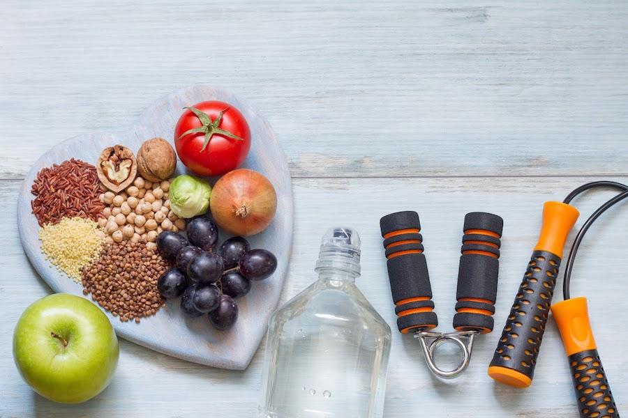 Fruit, vegetables and gym equipment | DNAfit Blog